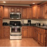 Maple finished cabinets