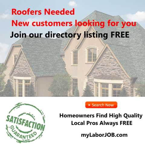 My labor job is seeking professional roofers and roofing service
